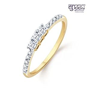 Sukkhi sublime gold and rhodium plated cz rings(159r280)