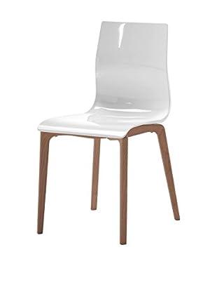 Domitalia Gel Chair, White/Brown