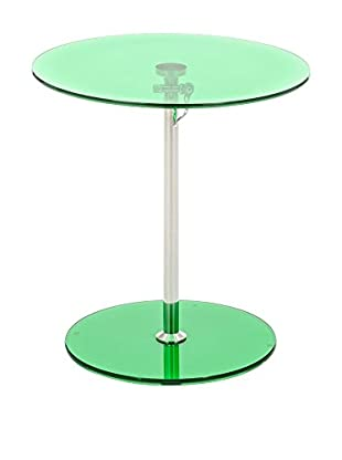 Contemporary Transparence Mesa Auxiliar Gong Verde