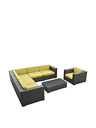 Modway Corona 7-Piece Outdoor Patio Sectional Set