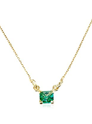 Cordoba Jewels Collar plata de ley 925 milésimas bañada en oro / Dorado