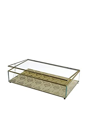 American Atelier Large Chandelier Glass Display Box, Gold