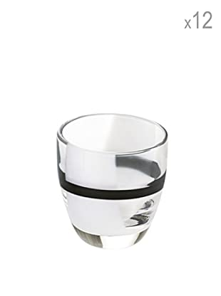 Guzzini Set 12 Bicchierini Liquore Table Art 2 Nero