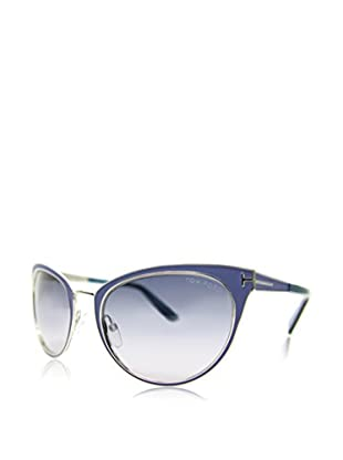 Tom Ford Occhiali da sole FT-NINA 0373S-86Z (56 mm) Argentato/Blu