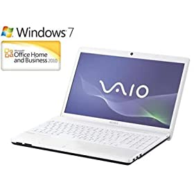 ソニー(VAIO) VAIO Eシリーズ (Win7HomePremium 64bit/Office2010) ホワイト VPCEH18FJ/W