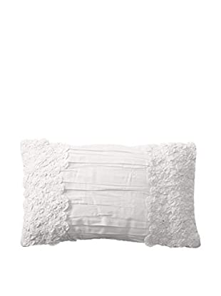Shades of India Daffodils Lumbar Pillow Cover, Pearl