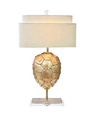 Couture Tortoise 1-Light Table Lamp, Opulent Silver
