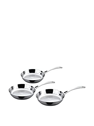 BergHOFF 3-Piece Stainless Steel Fry Pan Set