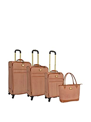 Adrienne Vittadini Stingray 4-Pc Luggage Set, Natural