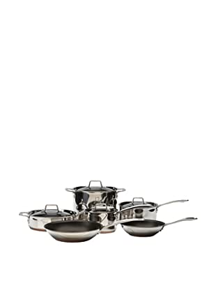 MIU France 10-Piece Copper Core Cookware Set (Silver)