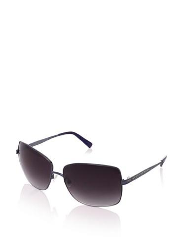 Judith Leiber Women's JL1573B 05 Channel Square Sunglasses (Sapphire/Smoke)