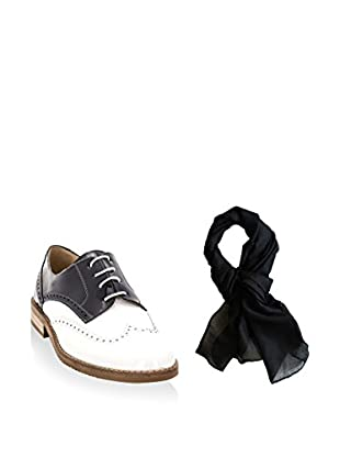 Ortiz & Reed Zapatos de cordones + Fular SET-ZMP2-BU1