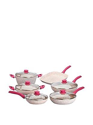 Stonerose Aluminiumpfannen-Set Stonerose 6tlg. fuchsia