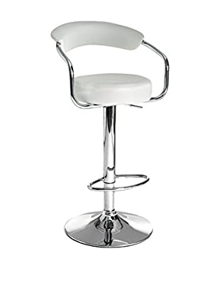 Contemporary Home Set Taburete de bar 2 Uds. Crux Blanco