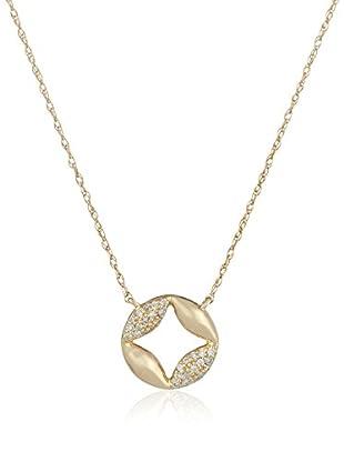 Bentelli Collar 9K Gold 0.08Ct Diamonds Oro Amarillo