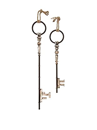 Set of 2 Metal Wall Keys