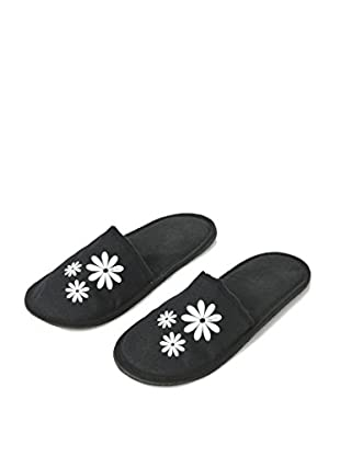 H.Due.O Pantofole Hippy Flowers Bianco