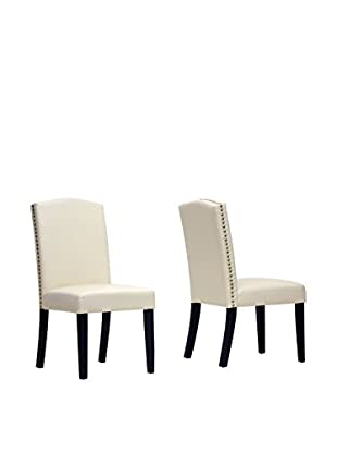 Baxton Studio Set of 2 Trullinger Dining Chairs, Beige