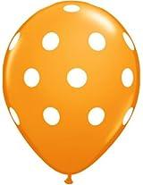 Tiger 50152 Polka Dot Large Balloon Orange (Pack of 30)