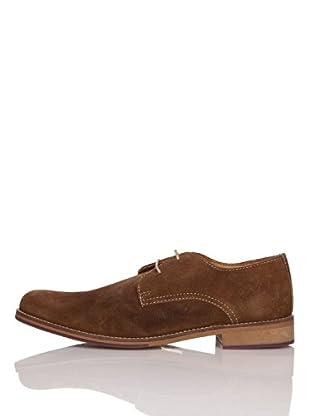 Zerimar Zapatos Piel Afelpada Cordones (Marrón)