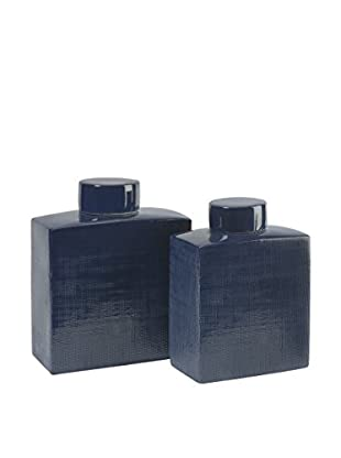 Set of 2 Wilfred Ceramic Canisters