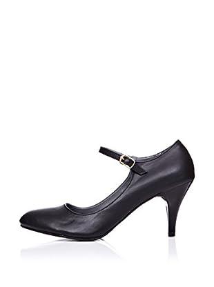 Ziya Zapatos Mary Jane Tacón (Negro)