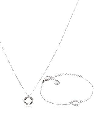 Swarovski Set Halskette und Armband  silberfarben