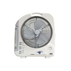 "Sunca SF-292AS 12"" Rechargeable Battery Fan with Emergency Light"
