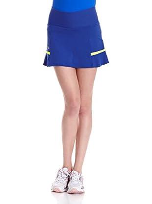 Naffta Falda Short Tenis Pádel (Azul Noche / Amarillo)