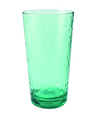 Pebbled Acrylic Large Highball Glass, Green