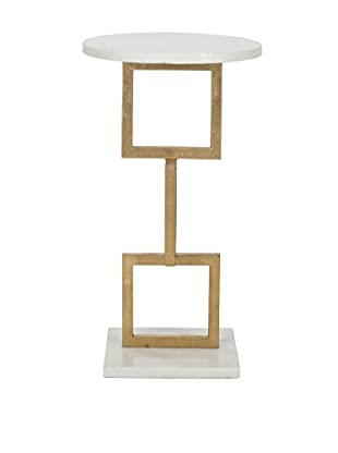 Safavieh Cassidy Accent Table, Gold/White