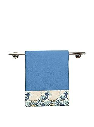 JAPAN MANIA by MANIFATTURE COTONIERE Handtuch 2er Set Hokusai - La Grande Onda