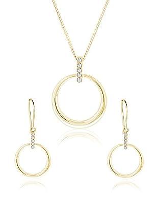 Diamond Style Set Kette, Anhänger und Ohrringe Horizon goldfarben
