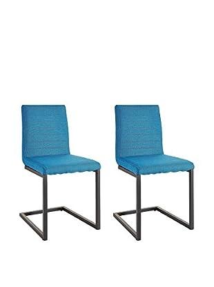 13 Casa Stuhl 2er Set Frame B4 blau