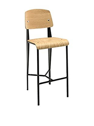 Modway Cabin Counter Stool, Natural Black