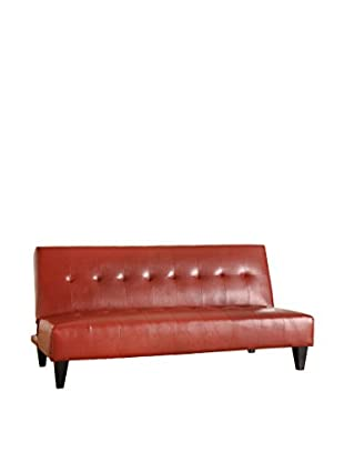 Acme Furniture Faux Leather Adjustable Sofa, Red