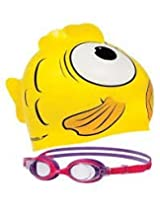 Speedo  Squad Cap and Goggle Set