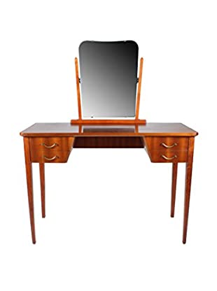 Ribbon Mahogany Dressing Table, Natural