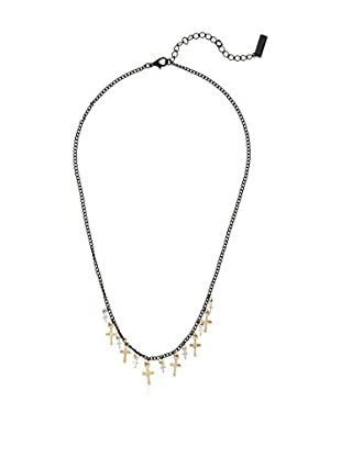 Pepe Jeans London Collana Black Chain&Small Cross Necklace