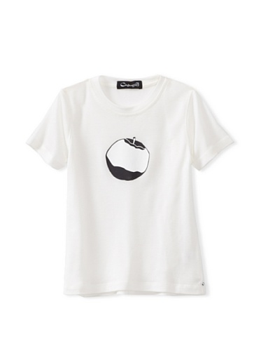 A for Apple Rat T-Shirt with Logo Apple (White)