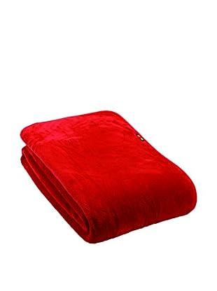 Mantas Mora Plaid Pelo Caricia (Rojo)