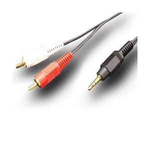 【クリックでお店のこの商品のページへ】[フジパーツ] オーディオケーブル 3.5mm ステレオミニプラグ-ピンプラグ RCA×2 FVC-323シリーズ