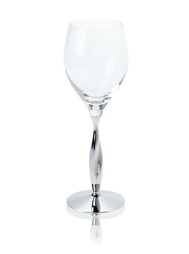 Nambé Twist Wine Glass, Clear
