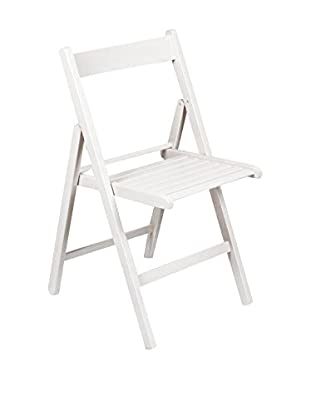 Evergreen House Silla Plegable Blanco