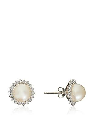 United Pearl Pendientes  Oro Blanco