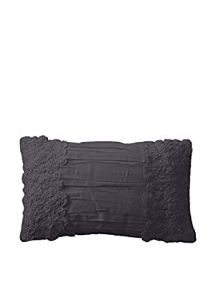 Shades of India Daffodils Lumbar Pillow Cover, Charcoal