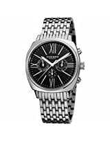 Akribos Black Dial Stainless Steel Mens Watch Ak636Ssb