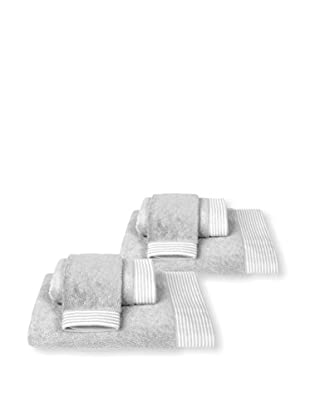 Home Source6-Piece Bath Set, Gray/White