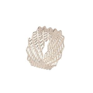 Voylla Metal Ring For Women - White