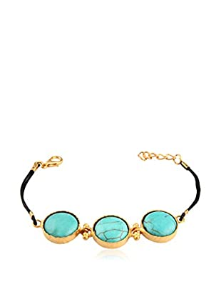 Tugram Pulsera Gold-Blue